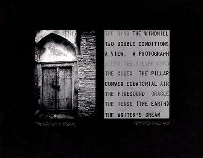 Leandro Katz, 'The Writer's Dream (I)', 1970