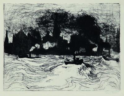 Emil Nolde, 'Hamburg, Binnenhafen', 1910