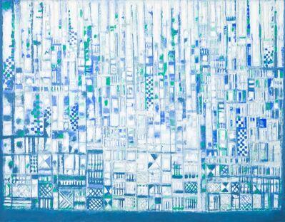 Manuel Cargaleiro, 'La Ville Bleu-Verte près de l'Eau et du Silence'