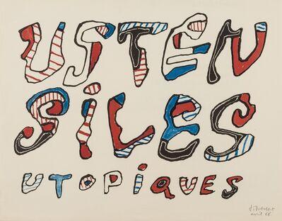 Jean Dubuffet, 'Ustensiles Utopiques', 1966