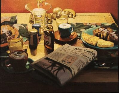 James Warwick Jones, 'Breakfast with Newspaper ', 2002