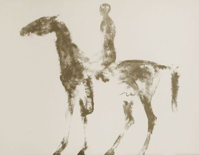 Elisabeth Frink, 'Small Horse And Rider (Wiseman 40)', 1970