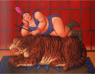 Fernando Botero, 'Trainer with Tiger', 2007