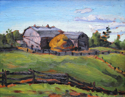 Frederick Hagan, 'Mr. King's Barns, Pickering Farm', 1942
