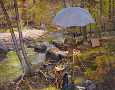 Joel Babb, 'Easel at Wight Brook, Grafton Notch, Maine', 2012