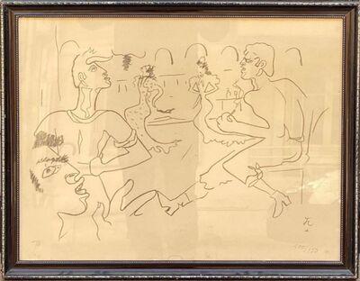 Jean Cocteau, 'Couple de danseurs Barcelone', 1956