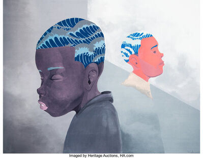 Hebru Brantley, 'Two Men Sporting Waves', 2019