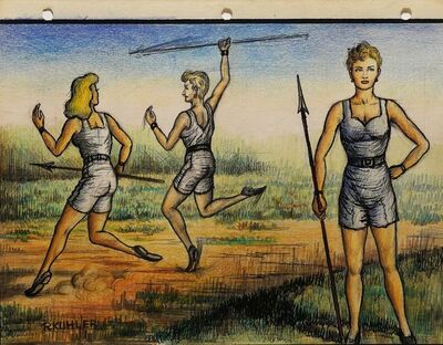 Renaldo Kuhler, 'Marlena Stahl in Javelin Thrown', 1959