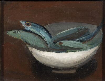 William Scott, 'Fish in a Bowl', 1948