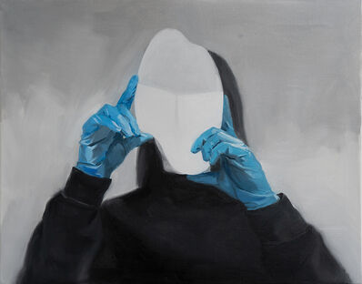 Ruxue Zhang, 'Blue Gloves 2', 2019