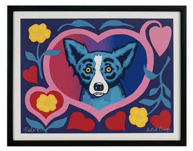 """George Rodrigue, 'Love Me Forever (often labeled """"Our Love Blooms"""")', ca. 2001"""