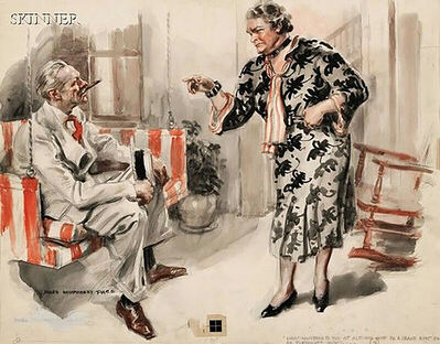 James Montgomery Flagg, 'What Happened To You In Altoona', 1938