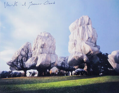 Christo and Jeanne-Claude, 'Wrapped trees. Project for the Foundation Beyeler and Berower Park, Riehen, Suiza', 1997