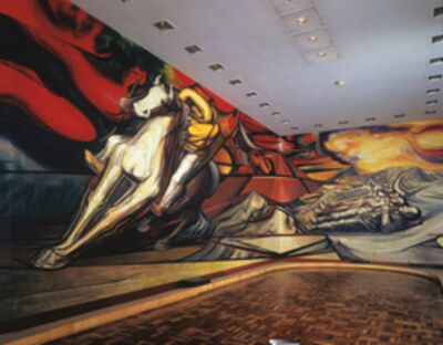 David Alfaro Siqueiros, 'From Porfirio's Dictatorship to the Revolution (Dal porfirismo a la Revolucion), detail with Horse'