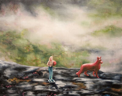 Kendra Lynn Bulgrin, 'In some way you are already dead (girl with flowers and red German Shepherd in the Gila Forest)     ', 2012