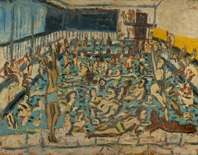 Leon Kossoff, 'Children's Swimming Pool, Autumn Afternoon, 1971', 1971