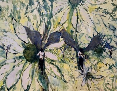 David Konigsberg, 'Sprites and Sunflowers', 2017
