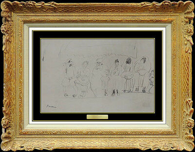 Jules Pascin, 'JULES PASCIN Original Drawing Charcoal Signed Artwork Figurative Women Authentic', 20th Century