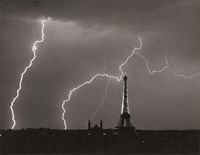 André Kertész, 'Eiffel Tower, Summer Lightning Storm, Paris', 1927 / 1960c
