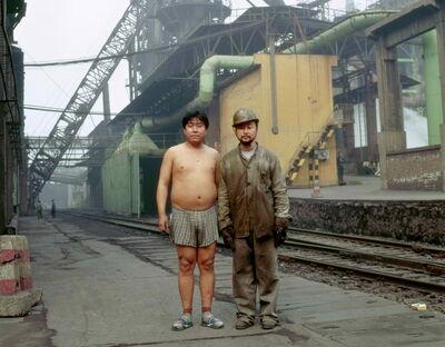 Cang Xin, 'Identity Exchange Series, Steel Making Worker', 2004