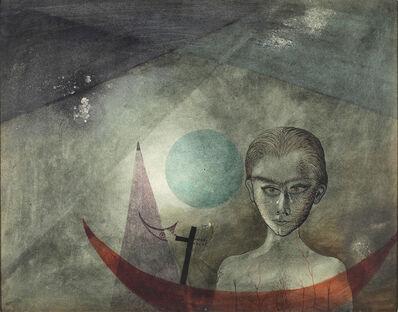 Antoni Tàpies, 'Personatge amb barca', 1951