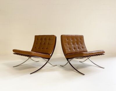 Ludwig Mies van der Rohe, 'Gerald R. Griffith Barcelona Chairs, pair', ca. 1960