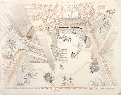 Carlos Diniz, 'Broadway Plaza, Los Angeles - Hotel Lobby (D) (Architect, Charles Luckman & Associates)', 1973