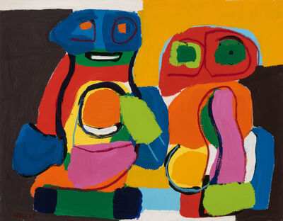Karel Appel, 'Two Figures', 1968