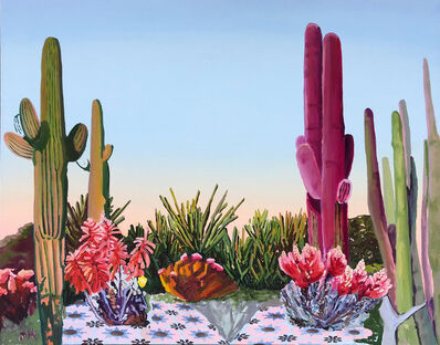 Alejandra Atares, 'Green and pink cacti', 2019