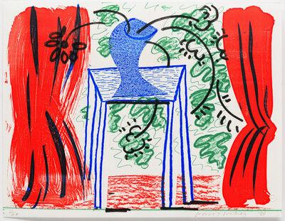 David Hockney, 'Still Life with Curtains', 1986