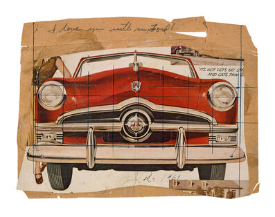 James Rosenquist, 'Collage for I Love You with My Ford', 1961