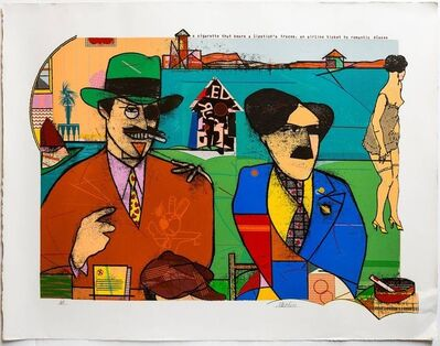 Richard Merkin, 'These Foolish Things Remind Me of You Pop Art Color Screenprint Richard Merkin', Late 20th Century