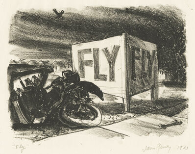 James Penney, 'Fly [Sign near our airport (Long Island)]', 1933