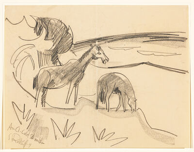 Karl Schmidt-Rottluff, 'Pferde an der See (Horses by the Sea)', 1919