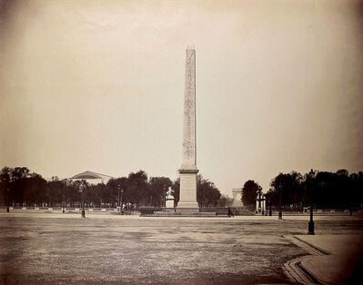 Gustave Le Gray, 'L'Obélisque de Louxor sur la Place de la Concorde avec les Champs-Élysées en Perspective, Paris', 1858/1858