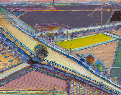 Wayne Thiebaud, 'Bright River Study', 1994-2012