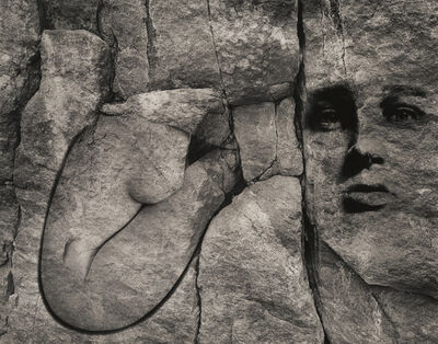 Jerry Uelsmann, 'Untitled (Face on Rock)', 1985