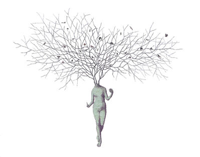 Keun Young Park, 'From Eden #10 - intricate collage of a woman with tree branches', 2020