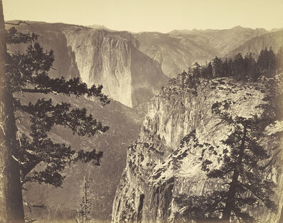 Carleton E. Watkins, 'First View of the Valley', 1866