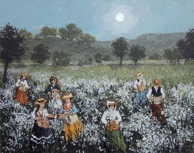 Fabienne Delacroix, 'La ceuillette (champ de marguerites à Grasse)'