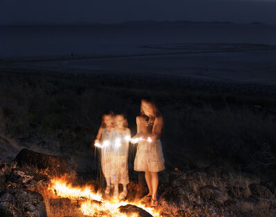 Laura McPhee, 'Sparklers, Spiral Jetty, Gunnison Bay, Great Salt Lake, Box Elder County, Utah, 2004 1/5'