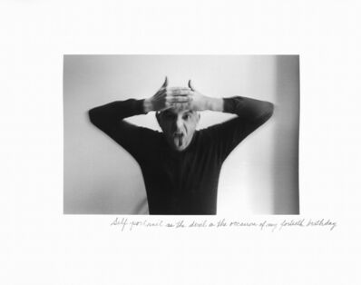Duane Michals, 'Self-Portrait as the Devil on the Occasion of My Fortieth Birthday ', 1972
