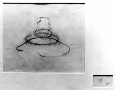 Naum Gabo, 'Study for a Construction (D 100)', 1952