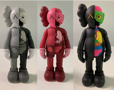KAWS, 'Set of 3 Companion Dissected (Flayed Black, Grey & Blush)', 2016