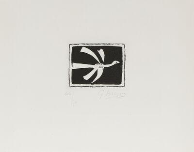 Georges Braque, 'Petit Oiseau Sur Fond Noir', 1958