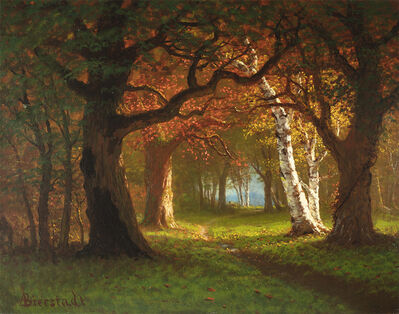 Albert Bierstadt, 'Forest near Saratoga'