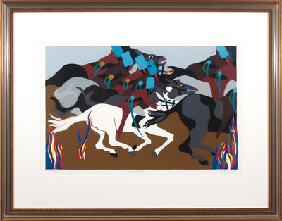 Jacob Lawrence, 'Tousannt at Ennery from Toussant L'Ouverture', 1989