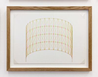 Günter Günschel, 'Anaglyph 3D drawing No.4', 1988