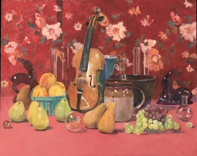 David Summers, 'Still Life with Violin, Local Peaches and Parted Gazelles', 2018