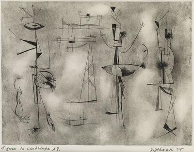 Dorothy Dehner, 'Figures in a Landscape', 1955